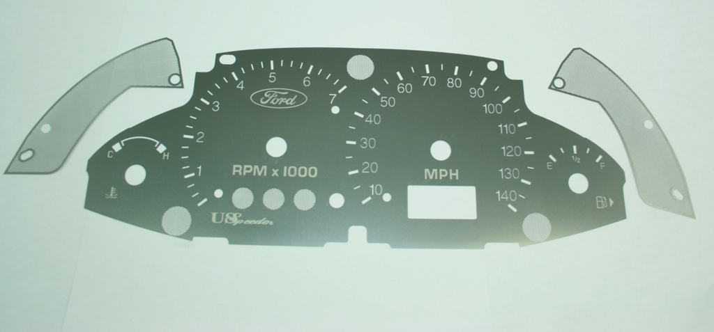 Ford Focus 1999-2005  With Tach Stainless Steel Gauge Face