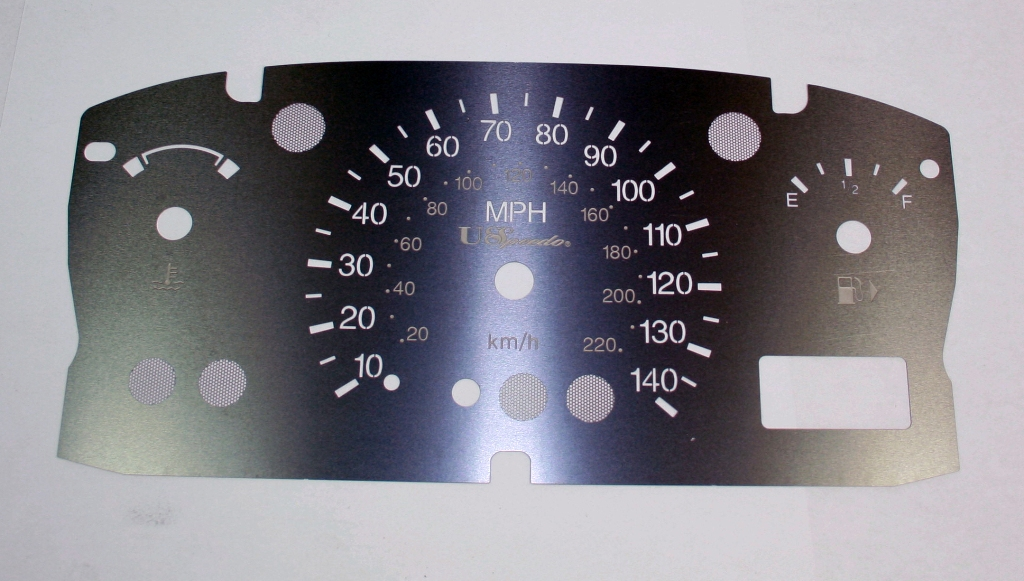 Ford Focus 1999-2005  No Tach Stainless Steel Gauge Face