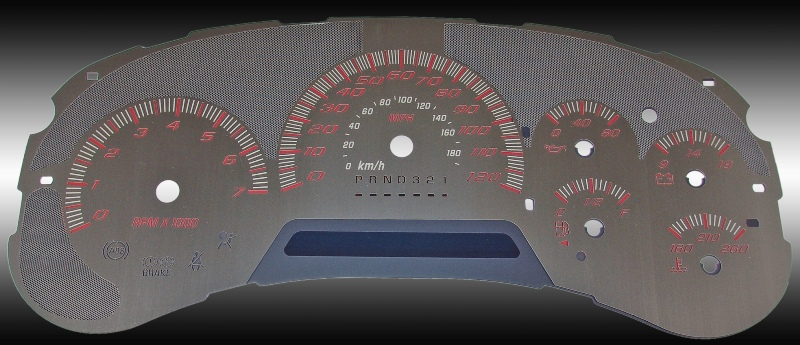 Gmc Envoy 2006-2009  120 Mph Stainless Steel Gauge Face With Red Numbers