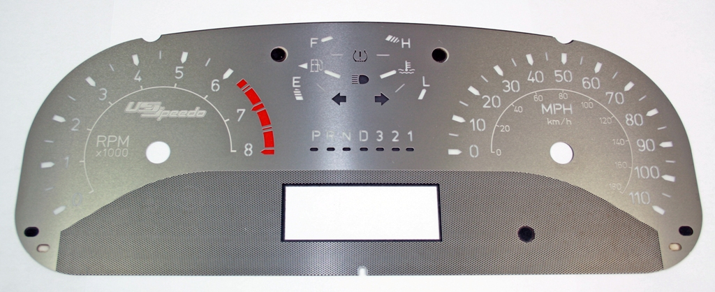 Hummer H3 2006-2009 Automatic Only 120 Mph No Needles Stainless Steel Gauge Face With White Numbers