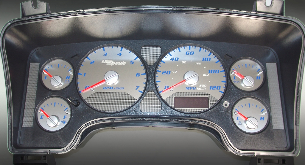 Dodge Ram 2006-2006 1500 Or 2500 Gas 7000 Rpm  120 Mph Stainless Steel Gauge Face With Blue Numbers