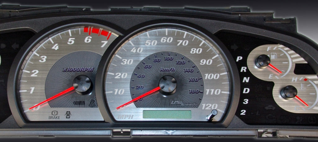 Toyota Tundra 2005-2006  Mph, 7000 Tach, Auto Stainless Steel Gauge Face With White Numbers