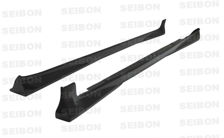 Toyota Yaris Liftback 2007-2008 OEM Style Carbon Fiber Side Skirts