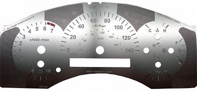 Nissan Titan 2004-2006 Stainless Steel Replacement Gauge Face