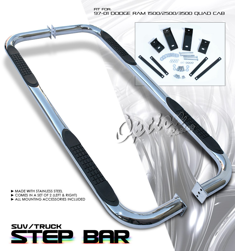 Dodge Ram 1997-2001 P/u 1500/2500/3500 Quad Cab All Step Bars