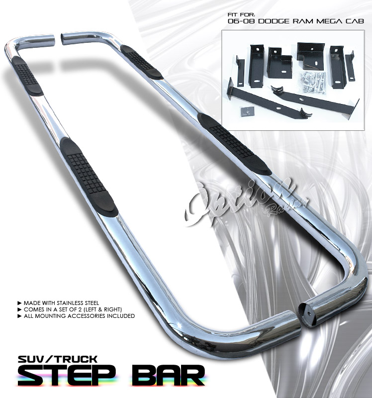 Dodge Ram 2006-2008  Mega Cab Stainles Step Bars