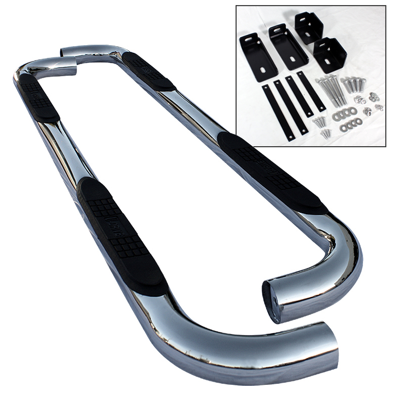 Dodge Ram 1998-2001 Quad Cab  Stainless  Step Bars