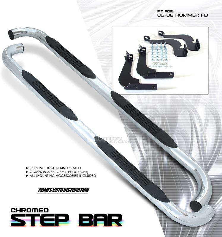 Hummer H3 2003-2008   Stainless Step Bars