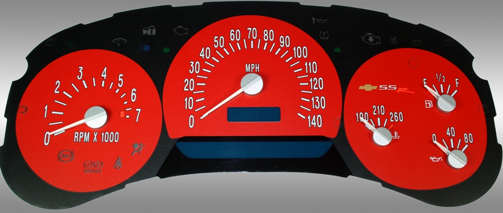 Chevrolet Ssr 2003-2005  Red / Blue Night Performance Dash Gauges