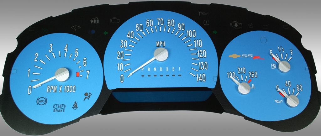 Chevrolet Ssr 2006-2006  Blue / Blue Night Performance Dash Gauges
