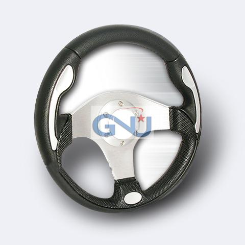 Momo Net Style Steering Wheel - (silver)