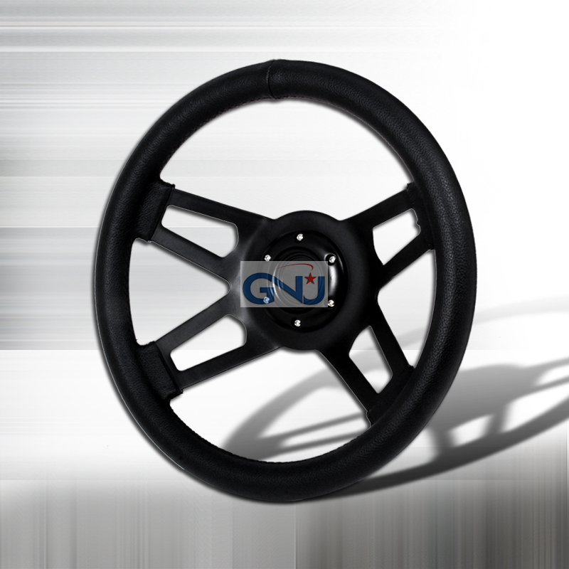 Type X  4 Spoke 350mm Steering Wheel - (black)