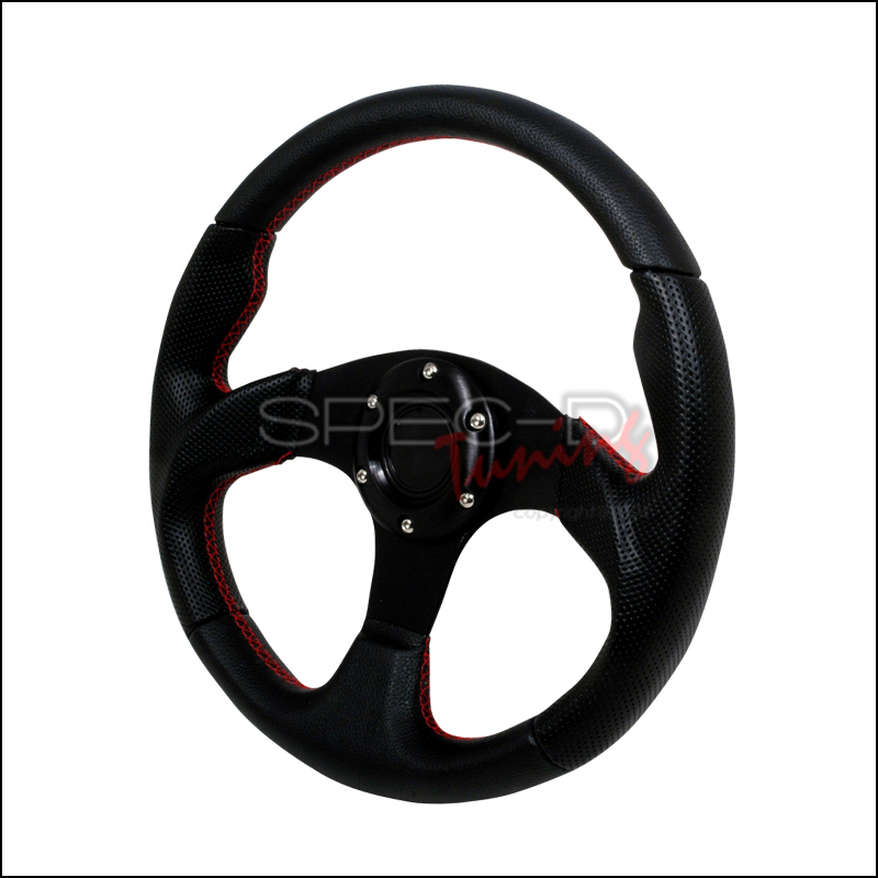 Type 2 320mm Steering Wheel - (black W/ Blue STItch)