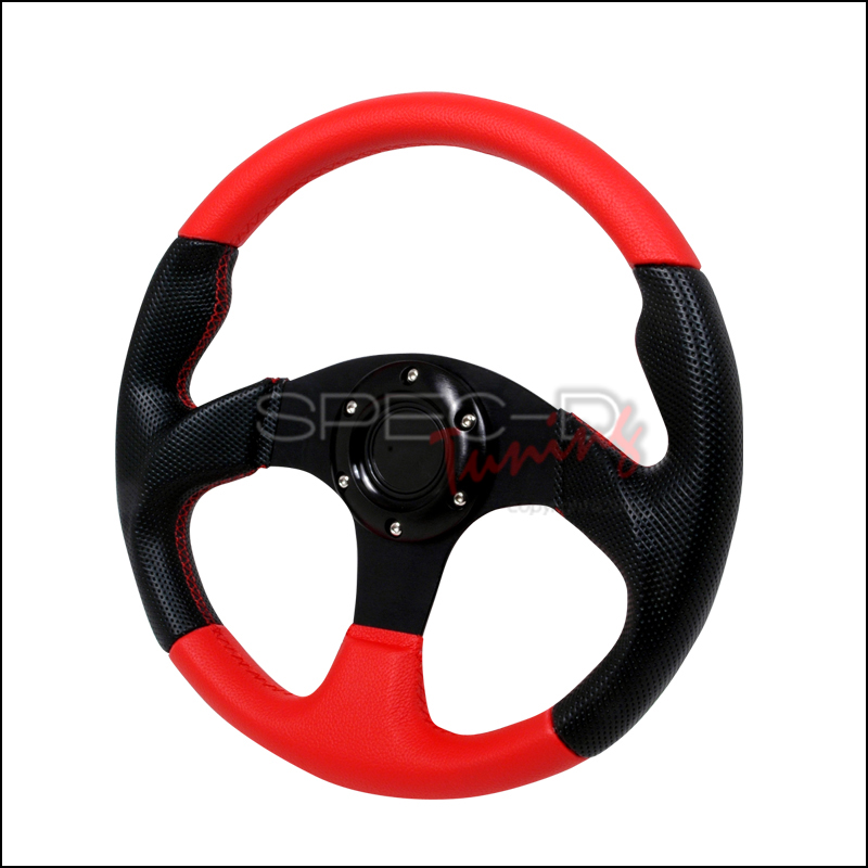 Type 2  320mm Steering Wheel - (black/Red)