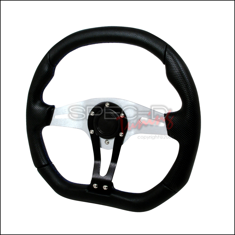 Technic 350mm Steering Wheel - (black W/ Blue STItch)