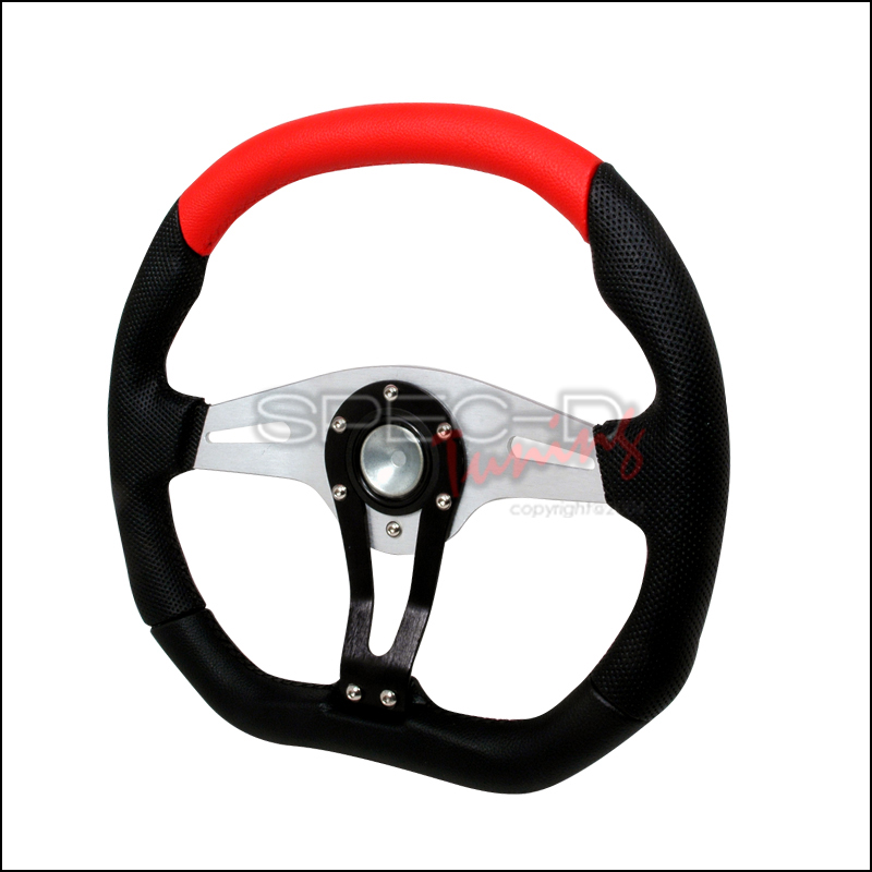 Technic 350mm Steering Wheel - (black/Red)