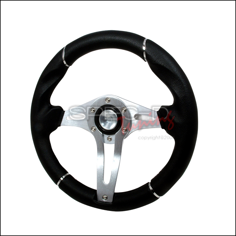 Technic 3  320mm Steering Wheel - (black/Silver)