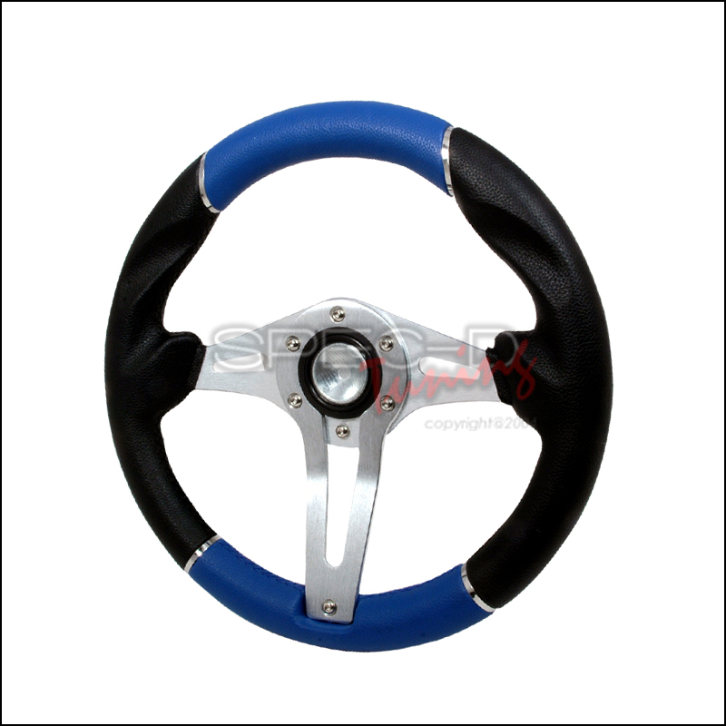 Technic 3 320mm Steering Wheel - (black/Blue)