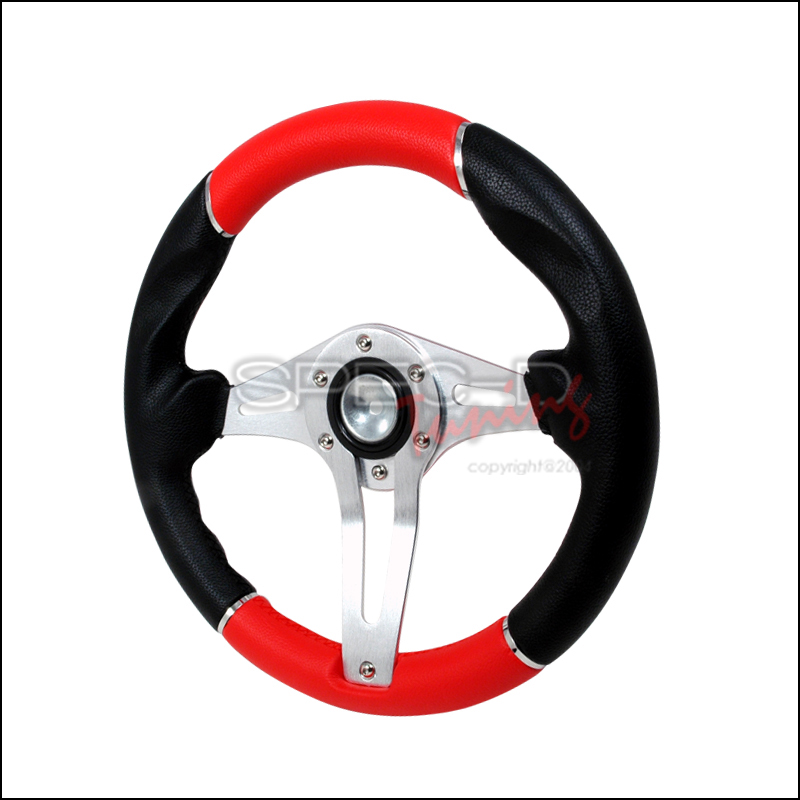 Technic 3  320mm Steering Wheel - (black/Red)