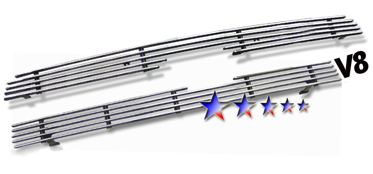 Toyota Sequoia  2005-2007 Polished Main Upper Aluminum Billet Grille