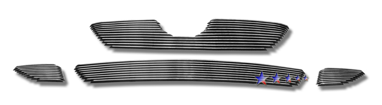 Toyota Corolla  2009-2010 Polished Main Upper + Lower Bumper Aluminum Billet Grille