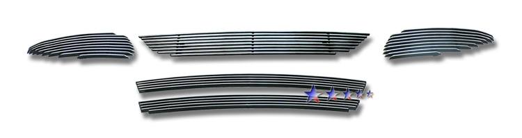 Toyota Matrix  2009-2010 Polished Main Upper + Lower Bumper Aluminum Billet Grille