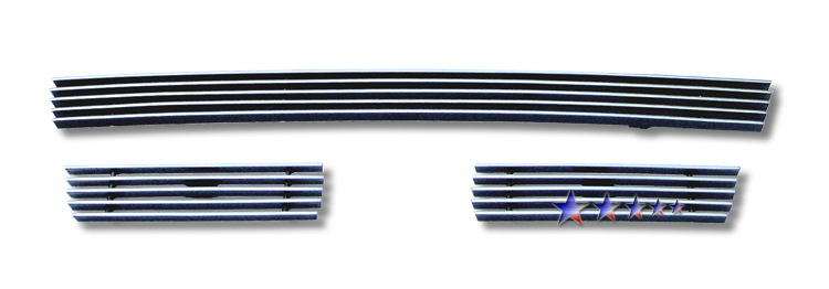 Toyota Tundra  2010-2012 Polished Lower Bumper Aluminum Billet Grille