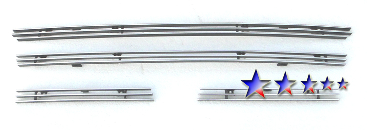 Toyota Highlander  2004-2007 Polished Main Upper Aluminum Billet Grille