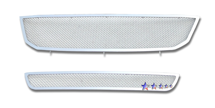 Toyota Avalon  2008-2009 Chrome Main Upper + Lower Bumper Mesh Grille