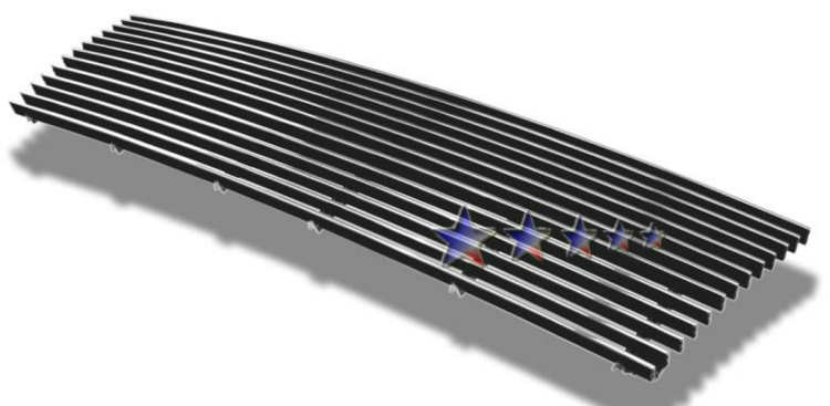 Toyota Tacoma 2wd 1997-2000 Polished Main Upper Stainless Steel Billet Grille