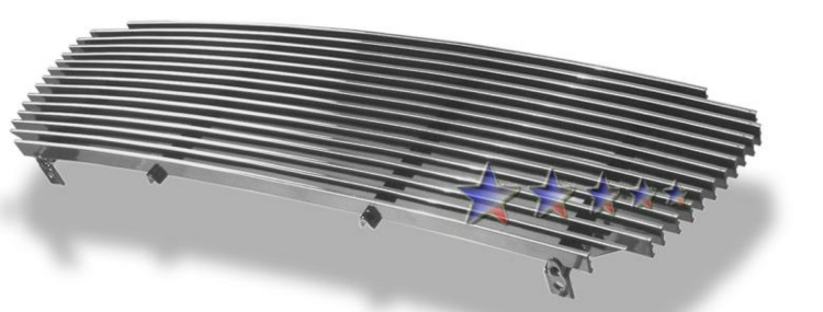 Toyota Tacoma  2001-2004 Polished Main Upper Aluminum Billet Grille