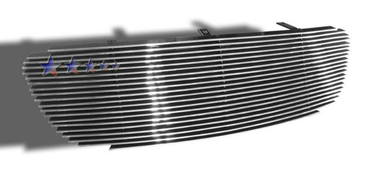 Toyota Corolla  2003-2004 Polished Main Upper Aluminum Billet Grille