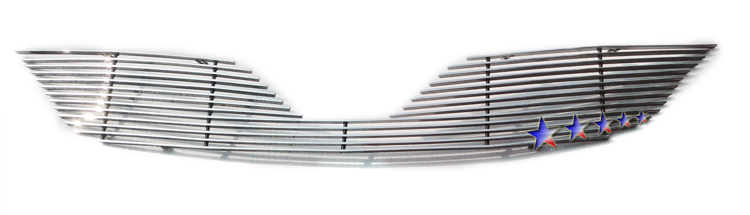 Toyota Corolla  2011-2012 Polished Main Upper Aluminum Billet Grille