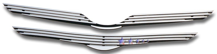 Toyota Yaris  2006-2008 Polished Main Upper Perimeter Grille