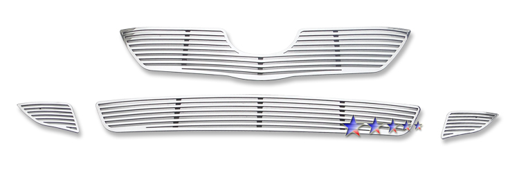 Toyota Corolla  2009-2010 Polished Main Upper + Lower Bumper Perimeter Grille