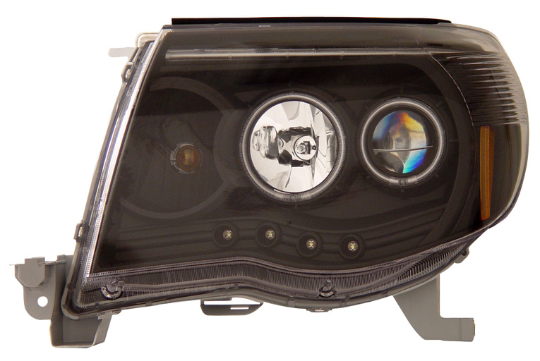 Toyota Tacoma 2005-2006 Projector Headlights (Black)