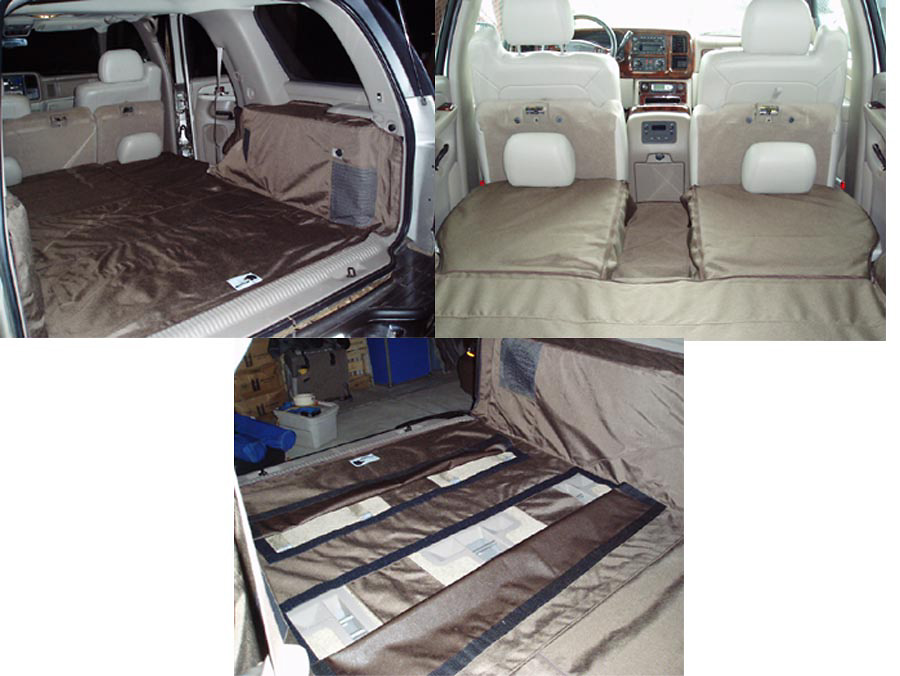 GMC Yukon 00-05 Cargo Liner, models w/ Rear A/C, NO Liftgate, Rear Speaker, Captains Chairs 2nd Row, 3rd Row Bench