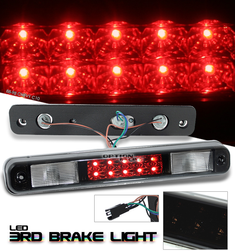 Chevrolet Full Size Pickup 1988-2002  Black LED 3rd Brake Light