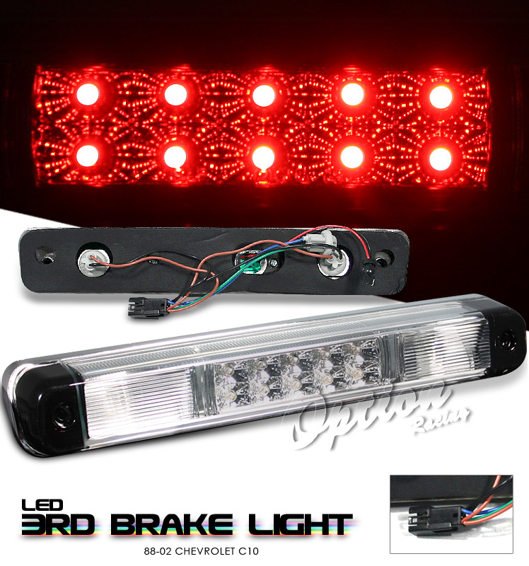 Chevrolet Full Size Pickup 1988-2002  Chrome LED 3rd Brake Light