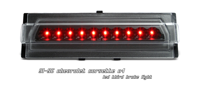 Chevrolet Corvette 1991-1996 C4 Black LED 3rd Brake Light