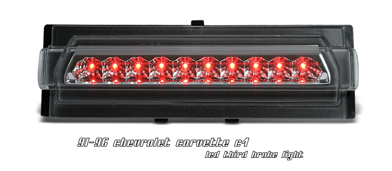 Chevrolet Corvette 1991-1996 C4 Chrome LED 3rd Brake Light