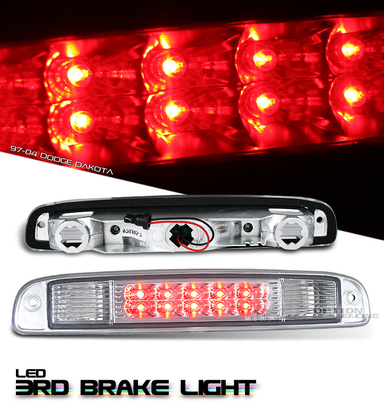 Dodge Dakota 1997-2004  Chrome LED 3rd Brake Light