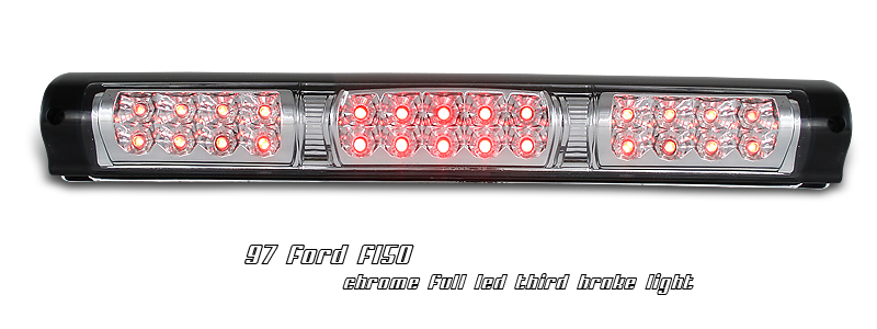 Ford F150 1997-2003  Chrome W/ Cargo Light LED 3rd Brake Light