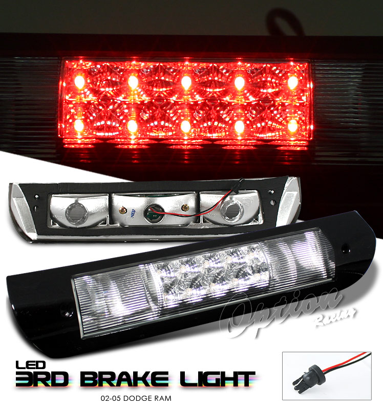 Dodge Ram 2002-2005  Chrome LED 3rd Brake Light