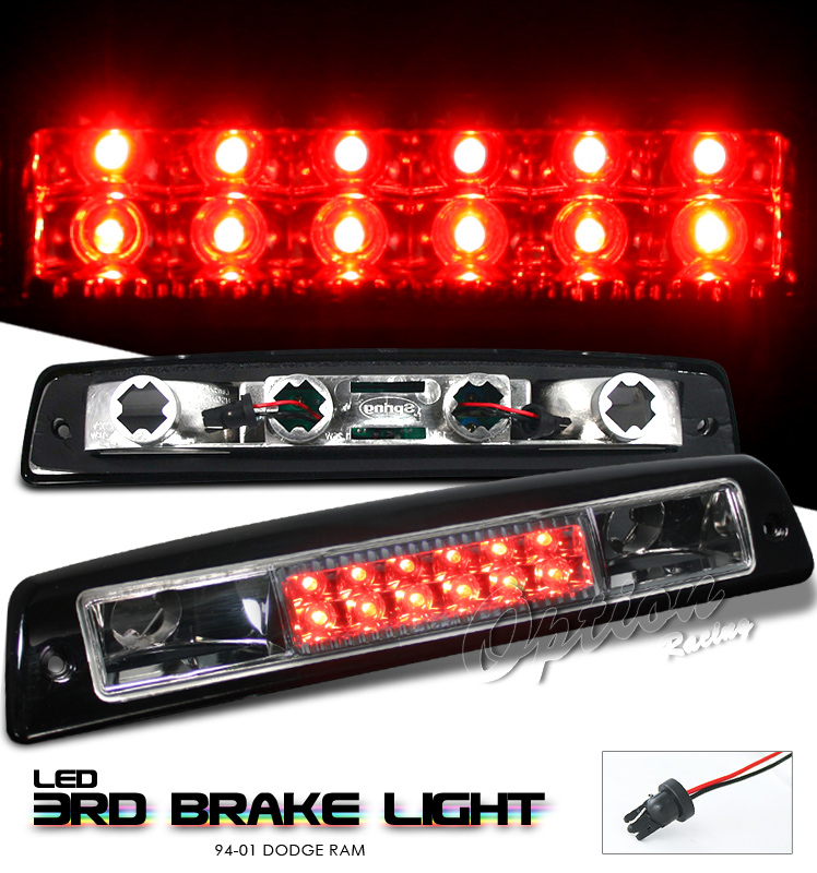 Dodge Ram 1994-2001  Chrome LED 3rd Brake Light