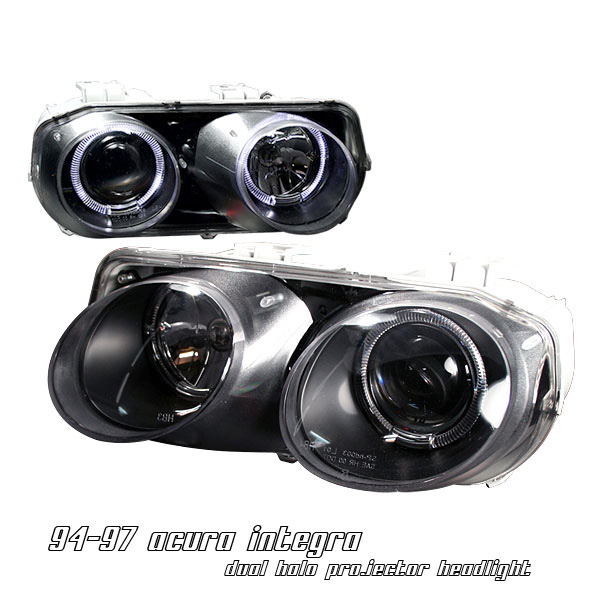 Acura Integra 1994-1997 Black Projector Headlights