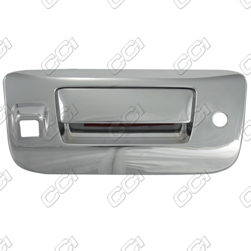 Gmc Sierra 2500 2010-2013 Chrome Tail Gate Handle W/ Keyhole Cover