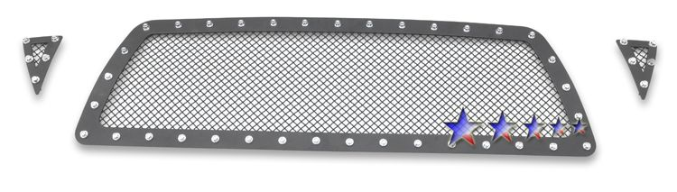 Toyota Tacoma  2005-2010 Black Powder Coated Main Upper Rivet Grille