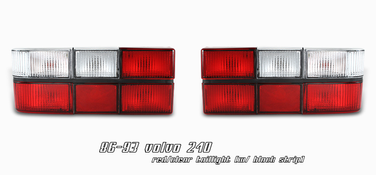 Volvo 240 1981-1993  Black Euro Tail Lights