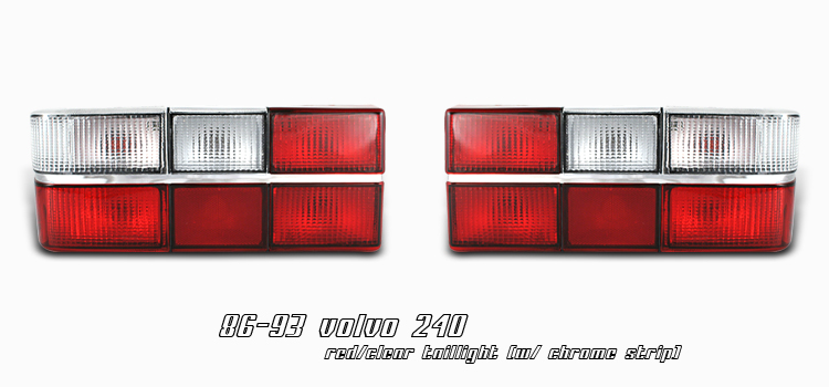 Volvo 240 1981-1993  Chrome Euro Tail Lights